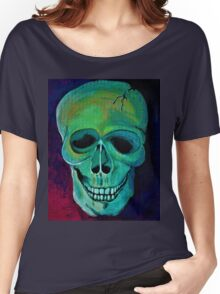 Acrylic Skull Women's Relaxed Fit T-Shirt