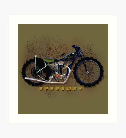 Vintage Excelsior Jap Speedway Bike by MotorManiac. Art Print