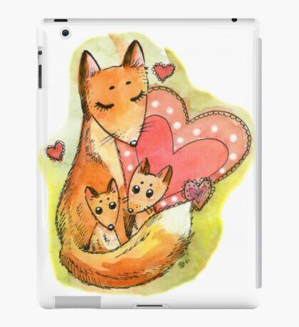 Fox with babies iPad Case/Skin