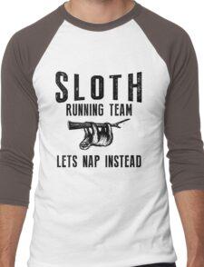 Sloth Running Team Lets Nap Instead Lazy Guy Gift Men's Baseball ¾ T-Shirt