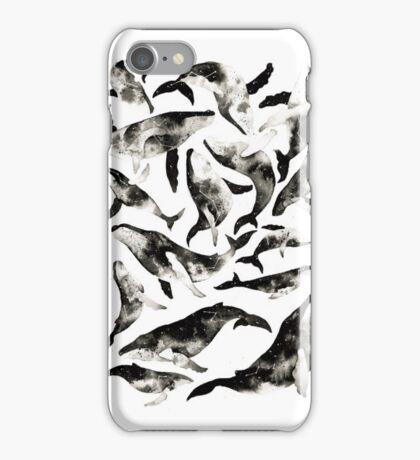 Monochrome Humpback Whale iPhone Case/Skin