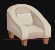 Glitch furniture chair armchair creammodern by wetdryvac