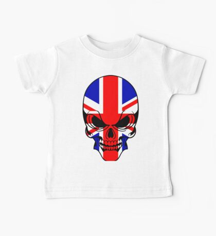 Skull with British Flag Baby Tee