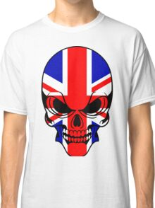 Skull with British Flag Classic T-Shirt