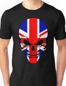 Skull with British Flag Unisex T-Shirt