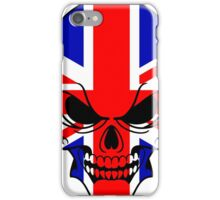 Skull with British Flag iPhone Case/Skin