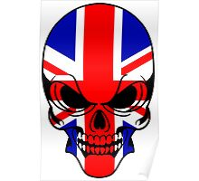 Skull with British Flag Poster