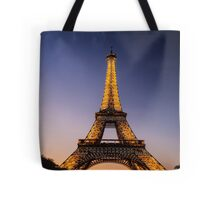 Eiffel Tower and sunset (2) Tote Bag