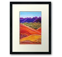 Dreaming of the Flinders Ranges Framed Print