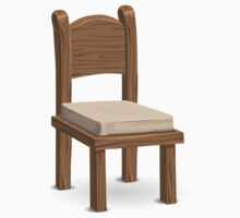 Glitch furniture chair basic padded chair One Piece - Short Sleeve