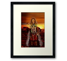 Sunset Chief Framed Print