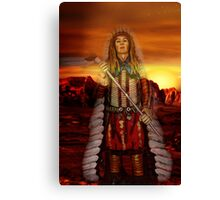 Sunset Chief Canvas Print