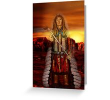 Sunset Chief Greeting Card