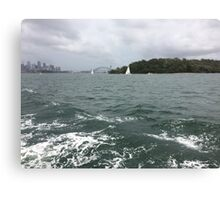 Boat ride with the Harbour Bridge in the distance, Sydney, Australia  Canvas Print
