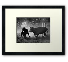 Caught Unawares Framed Print
