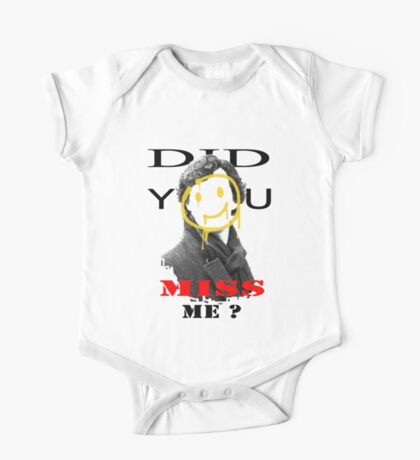 Did you miss me ? - Sherlock Holmes 4 One Piece - Short Sleeve