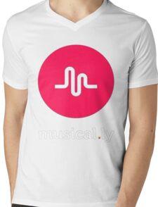 musically Mens V-Neck T-Shirt