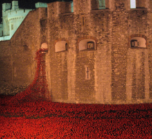 Poppies at the Tower of London - At Night #2 Sticker