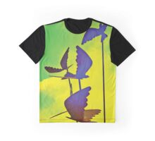 Flying birds in the sky design Graphic T-Shirt
