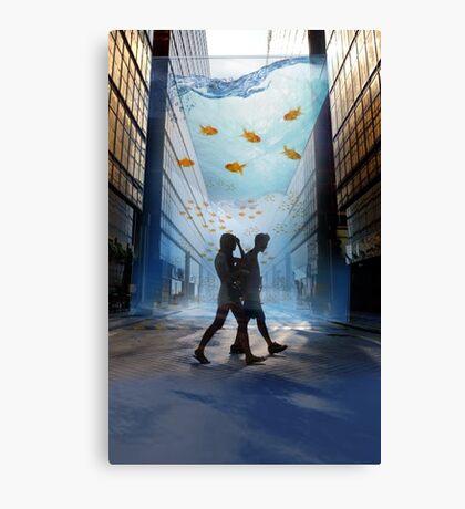 Urban Fish Bowl, aquarium Canvas Print