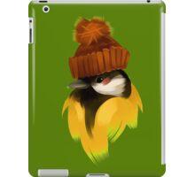Cute bird in a winter knitted hat iPad Case/Skin