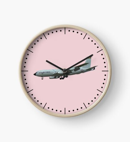 KC135A Stratotanker on Pink b/g and dash dial markings Clock