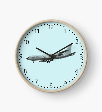 KC135A Stratotanker on Blue b/g and numbered dial Clock