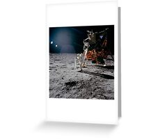 An astronaut deploying the Solar Wind Collector during an Apollo 11 moonwalk. Greeting Card