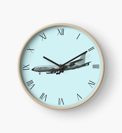 KC135A Stratotanker on Blue b/g and Roman dial markings Clock