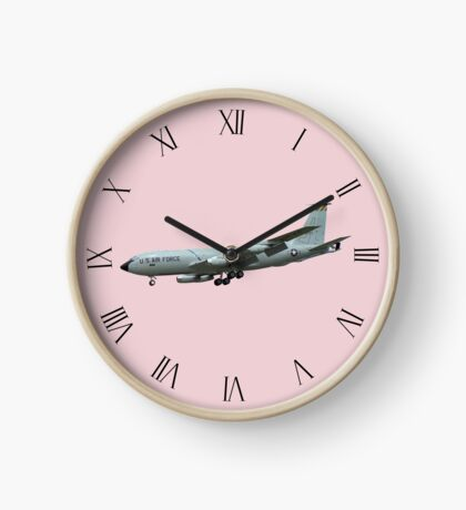 KC135A Stratotanker on Pink b/g and Roman dial markings Clock