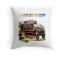 I Love My Pickup Throw Pillow