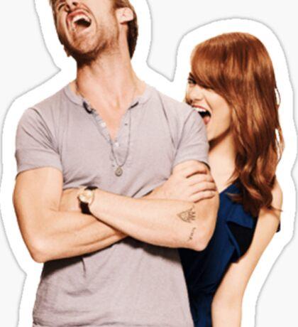 Emma Stone and Ryan Gosling Sticker