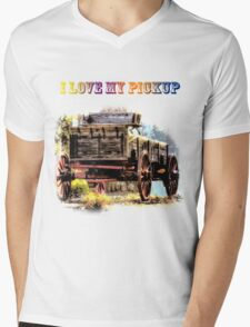 I Love My Pickup Mens V-Neck T-Shirt