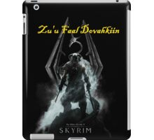 Skyrim: Zu'u Faal Dovahkiin (I am The Dragonborn) iPad Case/Skin