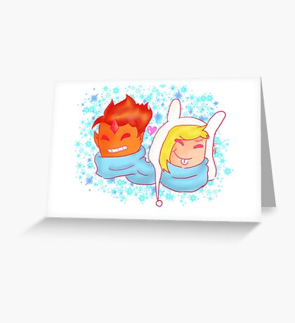 Fionna and Flame Prince Greeting Card