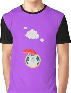 Polar Bear in the Rain Graphic T-Shirt