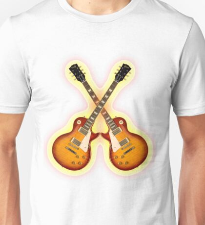 Double Gibson Les Paul Guitar Shirt Men Unisex T-Shirt