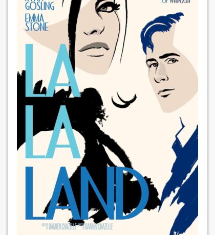 La la land Póster Sticker