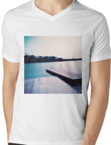 jetty in Helsinki Mens V-Neck T-Shirt