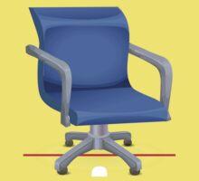 Glitch furniture chair chair blueplasticoffice One Piece - Short Sleeve