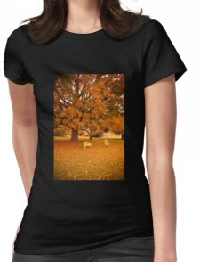 Vintage Autumn in Vermont  Womens Fitted T-Shirt