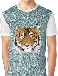 Glitter Tiger Graphic T-Shirt