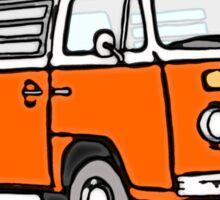 Bay Window Campervan Orange Sticker