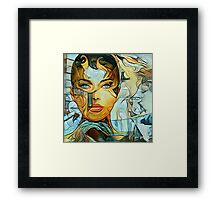 Questions in a world of blue Framed Print