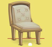 Glitch furniture chair chair brass with whitecushion Kids Tee