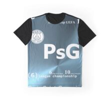 PSG element over blue Graphic T-Shirt