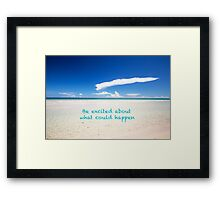 Inspirational Landscape - Beach, Inspiration, Excitement, Adventure, Holidays, Relax Framed Print