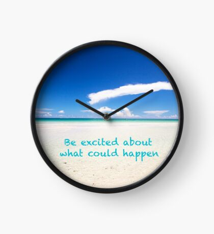 Inspirational Landscape - Beach, Inspiration, Excitement, Adventure, Holidays, Relax Clock