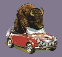 Bison in a Mini. Kids Clothes