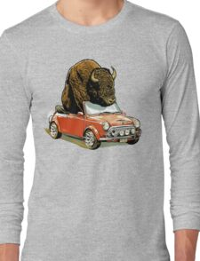 Bison in a Mini. Long Sleeve T-Shirt